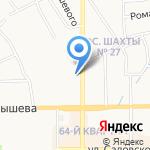 Универсал на карте Новомосковска