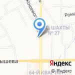 На Трудовых резервах на карте Новомосковска
