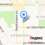 Комитет по физической культуре и спорту на карте Новомосковска