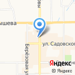 Зеленый куст на карте Новомосковска