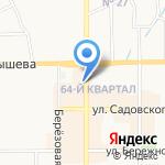 Марго на карте Новомосковска