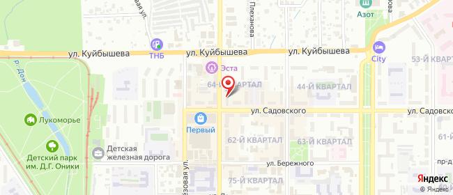 Карта расположения пункта доставки Новомосковск Трудовые Резервы в городе Новомосковск