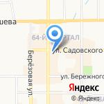 Верона на карте Новомосковска