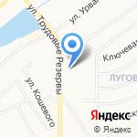 Автокомплекс на карте Новомосковска