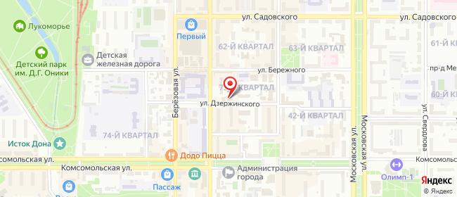 Карта расположения пункта доставки Ростелеком в городе Новомосковск