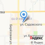 Метелица на карте Новомосковска