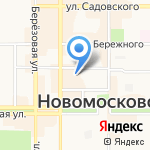ВСК на карте Новомосковска