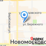 Тула Газ-сервис на карте Новомосковска