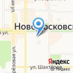 Колинз на карте Новомосковска