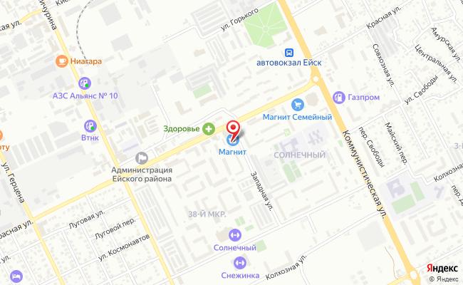Карта расположения пункта доставки СИТИЛИНК в городе Ейск