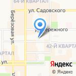 Кадастровый центр на карте Новомосковска