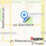 Блондинка за углом на карте Новомосковска