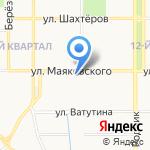 Рыбачок на карте Новомосковска