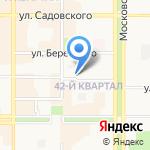 Отдел МВД России по г. Новомосковск на карте Новомосковска
