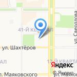 Родничок на карте Новомосковска