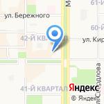 Светлый дом на карте Новомосковска
