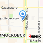Градус на карте Новомосковска
