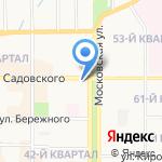 Центр на карте Новомосковска