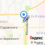 Октябрь на карте Новомосковска
