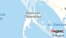 Гостиницы города Ясенская Переправа на карте
