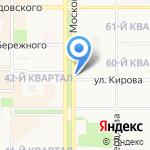 Роза на карте Новомосковска