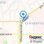 Полосатый крокодил на карте Новомосковска