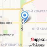 Пекарня урванского рынка на карте Новомосковска