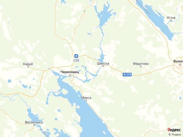 поселок Шайма на карте