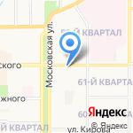 Махаон на карте Новомосковска