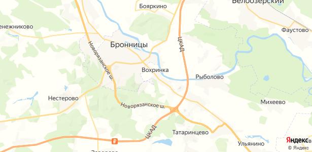Вохринка на карте