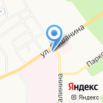 Тульский областной противотуберкулезный диспансер №1 на карте Новомосковска