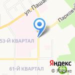 От склада на карте Новомосковска