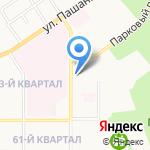 Шах-аптека на карте Новомосковска