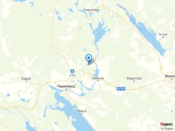 деревня Березники на карте