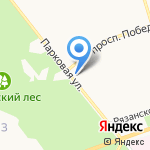 На крючке на карте Новомосковска