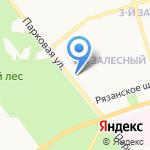 Санэко на карте Новомосковска