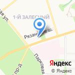 Первый Мебельный на карте Новомосковска