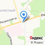 Водолей на карте Новомосковска