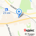 Московская ярмарка на карте Донского