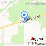 Демидовская вода на карте Новомосковска