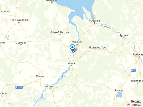деревня Рябинино на карте