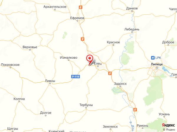 поселок Красный Куст на карте