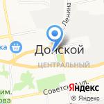 Антей на карте Донского