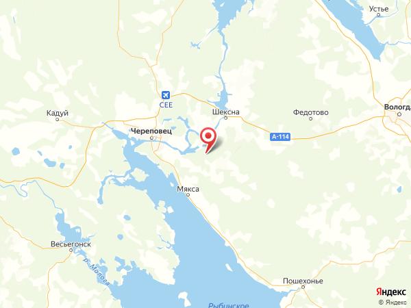 село Гоша на карте
