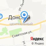 Управление пенсионного фонда РФ в г. Донской на карте Донского