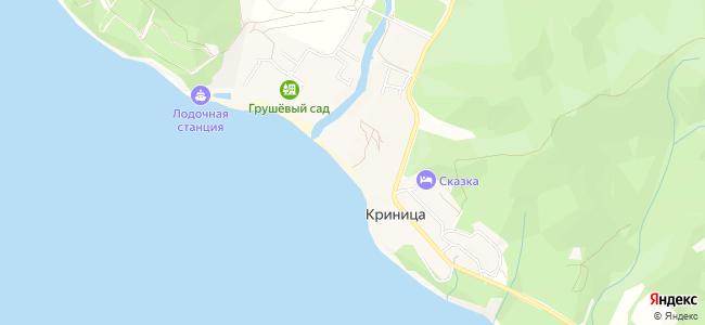 Гостиницы Криницы - объекты на карте