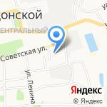Средняя общеобразовательная школа №1 на карте Донского