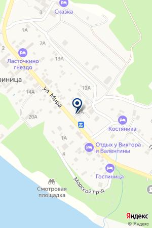 Миллениум на карте Геленджика