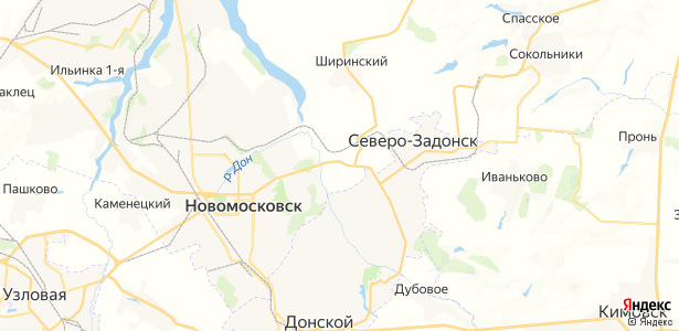 Придонье на карте
