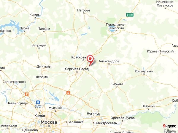 ДНП Гальнево на карте